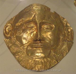 Gold funerary mask - Mycenae